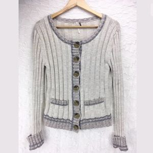Free People Button Down Sweater